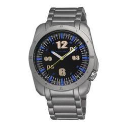 Men's Vernier VNR11076 Sports Look Bracelet Quartz Watch Silver Alloy/Black/Blue