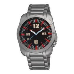 Men's Vernier V11076 Sports Look Bracelet Quartz Watch Silver Alloy/Black/Red
