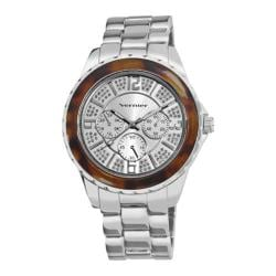 Women's Vernier VNR11079 Glitter Sunray Dial Quartz Watch Silver Alloy/Silver