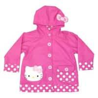 Girls' Western Chief Hello Kitty Cutie Dot Raincoat Pink