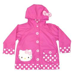 Girls' Western Chief Hello Kitty Cutie Dot Raincoat Pink