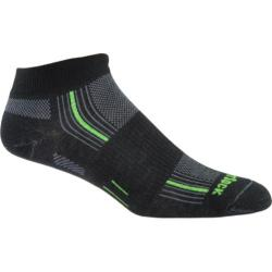 Wrightsock DL Stride Lo (2 Pairs) Black/Green Stripe