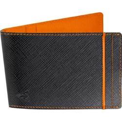 Men's Wurkin Stiffs RFID Money Clip Wallet Black/Orange