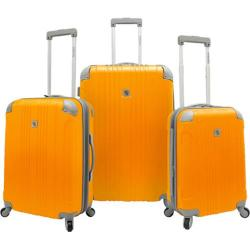 Beverly Hills Country Club Malibu 3-Piece Hardside Spinner Luggage Set Orange