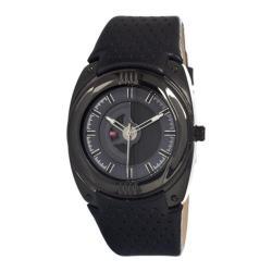 Men's DFactory White Label DFI021WBB Black Leather/Grey