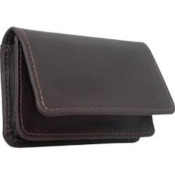 Piel Leather Business Card/ID Case 9061 Chocolate Leather