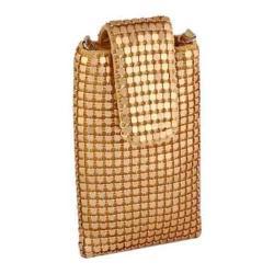 Women's J. Furmani 66606 Metal Mesh Cell Phone Bag Gold