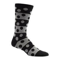 Men's Ozone Big Dots Crew Socks (2 Pairs) Black