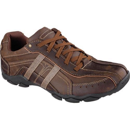 Skechers Diameter Murilo Memory Foam Sneaker Brown Leather L93o4678