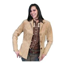 Women's Scully Leather Boar Suede Fringe Jacket L9 Old Rust
