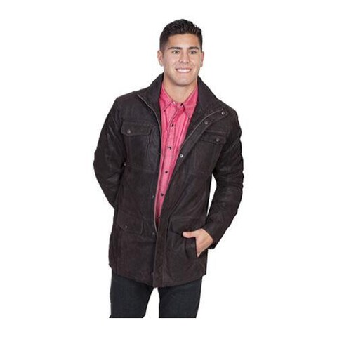 Men's Scully Leather Frontier Leather Jacket 927 Brown