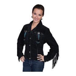 Women's Scully Leather Boar Suede Jacket L152 Black Boar Suede