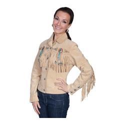 Women's Scully Leather Boar Suede Jacket L152 Chamois Boar Suede