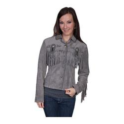 Women's Scully Leather Boar Suede Jacket L152 (Grey)