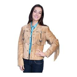 Women's Scully Leather Boar Suede Jacket L152 Old Rust