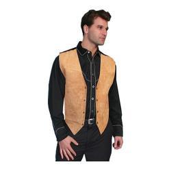 Men's Scully Leather Boar Suede Snap Front Vest 504 Bourbon Boar Suede
