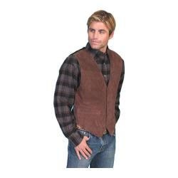 Men's Scully Leather Boar Suede Snap Front Vest 504 Expresso Boar Suede