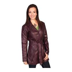 Women's Scully Leather Classic Style Knee Length Coat L51 Wine