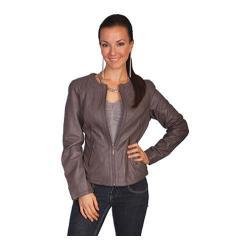 Women's Scully Leather Lamb Jacket L992 Grey Lamb