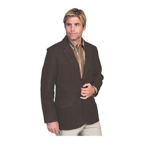 Men's Scully Leather Leather Blazer 602 Brown