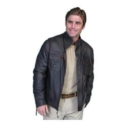 Men's Scully Leather Lambskin Zip Front Jacket 118 Tall Oxblood - Thumbnail 0
