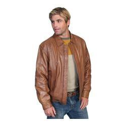 Men's Scully Leather Premium Lambskin Jacket 978 Cognac Soft Lamb