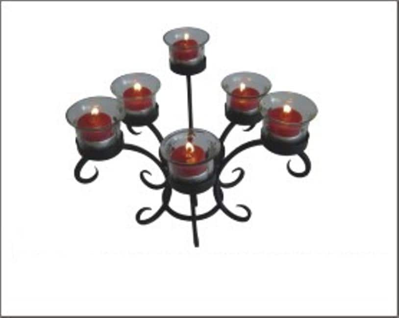 Charleston Wrought Iron Tabletop 6-candle Tea Candle Holder