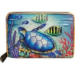 Women's Anuschka Credit And Business Card Holder 1110 Ocean Treasures