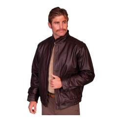 Men's Scully Leather Zip Front Leather Jacket 977 Long Brown Grain Calf