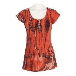 Women's Ojai Clothing Yoga Top Orange Sunset