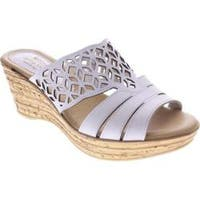 Women's Spring Step Vino White Leather