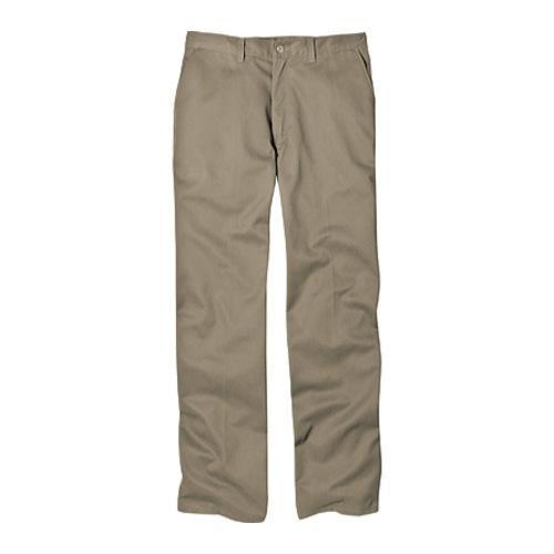 Men's Dickies Relaxed Fit Cotton Flat Front Pant 34in Inseam Khaki