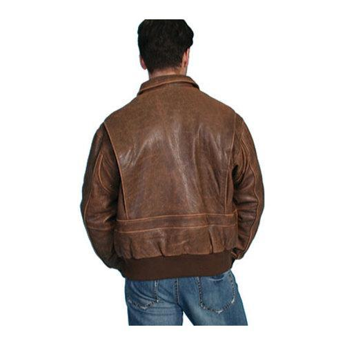 d9e4099fa Men's Scully Leather Lambskin Bomber Jacket 714 Brown Antique Lamb