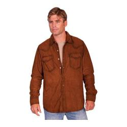 Men's Scully Leather Western Suede Shirt 78 Brown