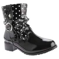 Women's Beacon Shoes Drizzle Black Polka Dot Polyurethane