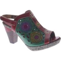 Women's Spring Step Belen Red Leather