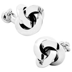 Men's Ox & Bull Trading Co. Double Ended Knot Cufflinks Silver