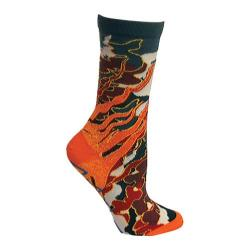 Women's Ozone Fire Crew Sock (2 Pairs) Red