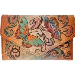 Women's Anuschka Checkbook Wallet Henna Butterfly
