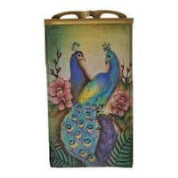 Women's Anuschka Double Eyeglass Case Passionate Peacocks
