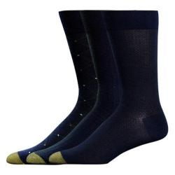 Men's Gold Toe Rayon Rayon from Bamboo Fashion Pack 2055S (12 Pairs) Navy