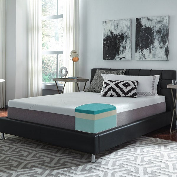 Slumber Solutions Choose Your Comfort 12 Inch King Size Gel Memory Foam Mattress Free Shipping