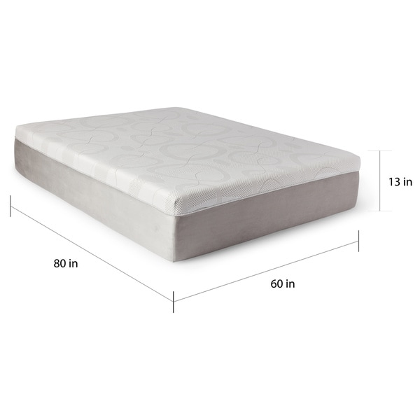 slumber solutions choose your comfort 14inch queensize gel memory foam mattress free shipping today