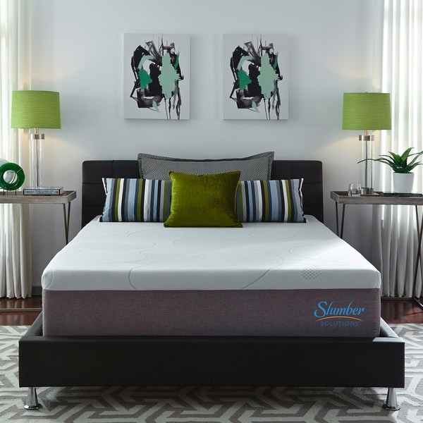 Slumber solutions choose your comfort 14 inch king size for Are memory foam mattresses comfortable