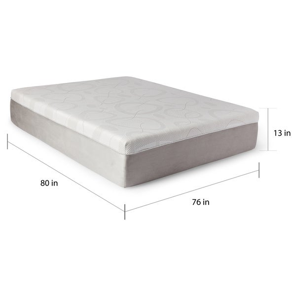 Slumber Solutions Choose Your Comfort 14-inch King-size Gel Memory Foam  Mattress - Free Shipping Today - Overstock.com - 15869866