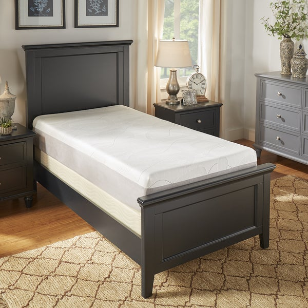 slumber solutions choose your comfort 8 inch twin size gel memory foam mattress free shipping. Black Bedroom Furniture Sets. Home Design Ideas