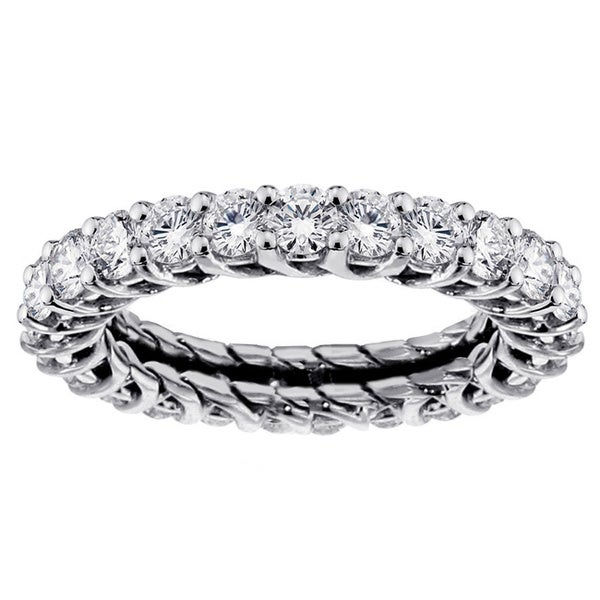 14k/18k Gold or Platinum 2 3/5ct TDW Eternity Wedding Band (F-G, SI1-SI2)