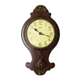 Classic Wall Clock with Swinging Pendulum