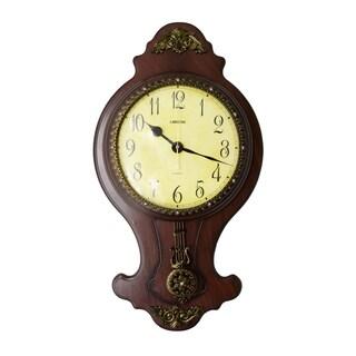 Classic Wall Clock with Swinging Pendulum