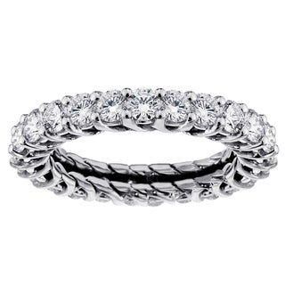 14k White Gold 2 - 2 1/4ct TDW Diamond Eternity Wedding Band